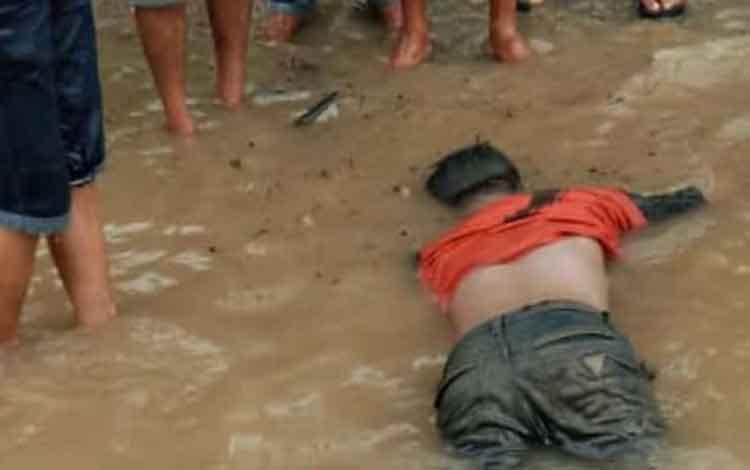 Pelajar Muara Laung 1 korban tenggelam di Sungai Batito ditemukan, Senin, 30 September 2019