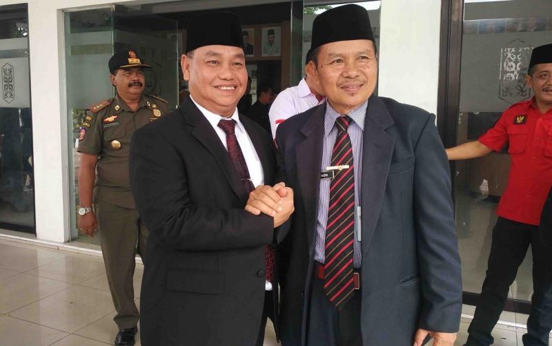 Sekda Kotim, Halikinnor usai menghadiri pelantikan unsur pimpinan DPRD, Selasa, 1 Oktober 2019.