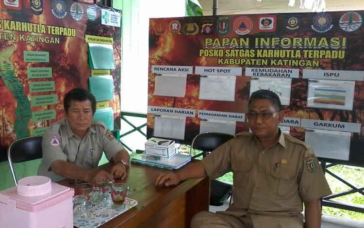 Tim gabungan di Kabupaten Katingan masih melakukan pemadaman api di sejumlah tempat.