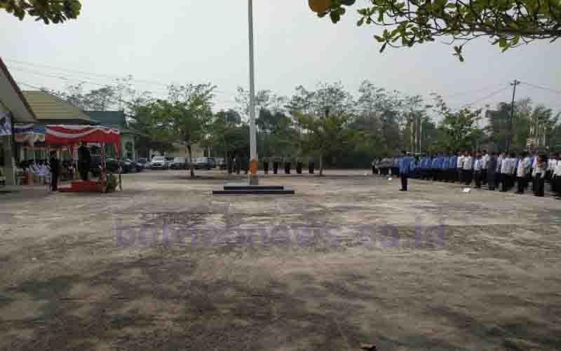 Upacara peringatan Hari Kesaktian Pancasila di Pulang Pisau, Selasa, 1 Oktober 2019.