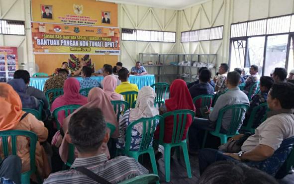 Dinas Sosial Kapuas saat menyosialisasikan bantuan pangan non tunai, Kamis, 2 Oktober 2019. Dinas Sosial Kabupaten Kapuas sedang mempersiapkan rencana penyaluran bantuan pangan non tunai melalui E-Warung.