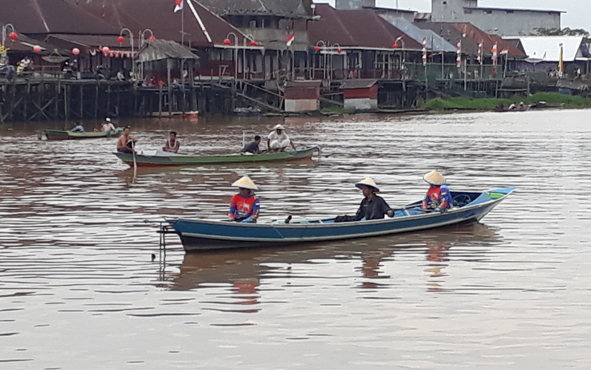 Lomba mancing tradisional di Sungai Arut, Pangkalan Bun dalam rangka memeriahkan HUT ke 60 Kobar, Jumat 4 Oktober 2019