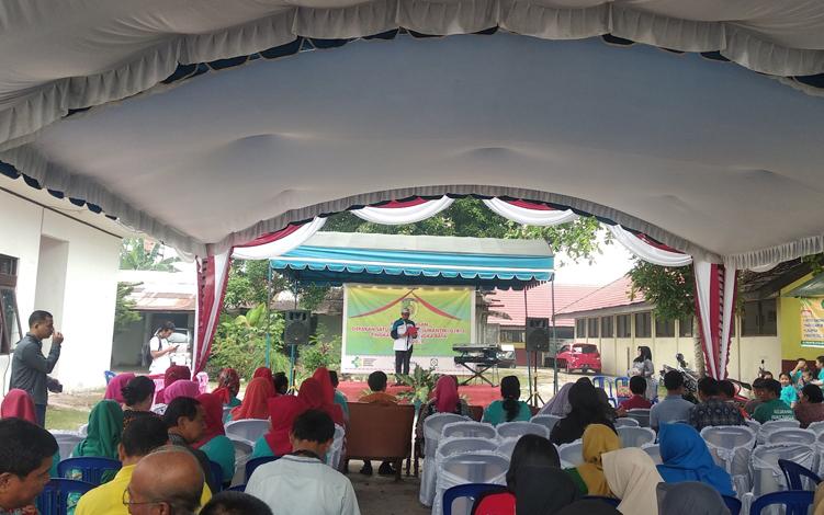 Pemerintah Kota Palangka Raya mencanangkan gerakan satu rumah satu rumah satu jumantik atau G1R1J untuk Kelurahan Palangka di Kantor Kelurahan Palangka, Jumat, 4 Oktober 2019.