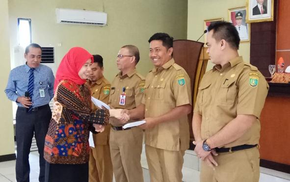 Bank Indonesia Perwakilan Kalimantan Tengah melaksanakan koordinasi dan sosialisasi elektronifikasi transaksi di lingkungan Pemkab Barito Selatan, di aula Setda, Selasa, 8 Oktober 2019.