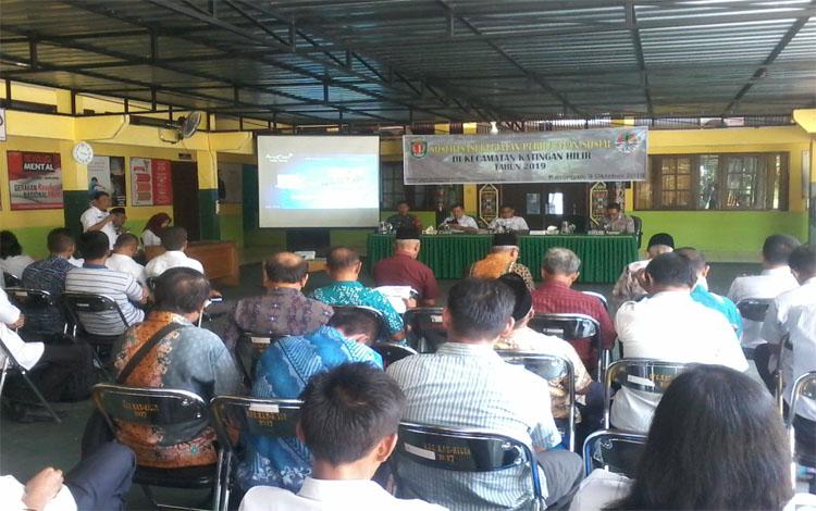 Sosialisasi perhutanan sosial di Kecamatan Katingan Hilir, Rabu 9 Oktober 2019