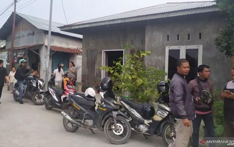 Lingkungan rumah pelaku Syarial Alamsyah di Jalan Alfakah VI, Desa Tanjung Mulia Hilir, Kecamatan Medan Deli, Medan. (ANTARA/Nur Aprilliana Br Sitorus)