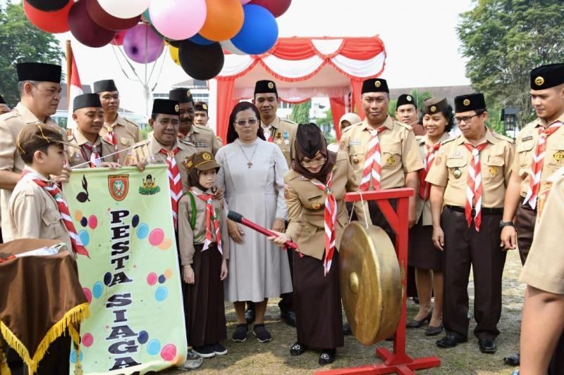 Gubernur Kalimantan Tengah Sugianto Sabran berharap, Gebyar Pesta Siaga Kwartir Daerah Gerakan Pramuka dapat menghasilkan pramuka siaga yang disiplin, jujur, dan setia kawan.
