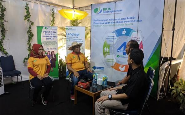 Badan Penyelenggara Jaminan Sosial (BPJS) Ketenagakerjaan Kantor Cabang Pangkalan Bun turut memeriahkan HUT ke - 60 Kabupaten Kotawaringin Barat dengan terlibat dalam Kobar Expo yang berlangsung di Stadion Sampuraga, 5-12 Oktober 2019.