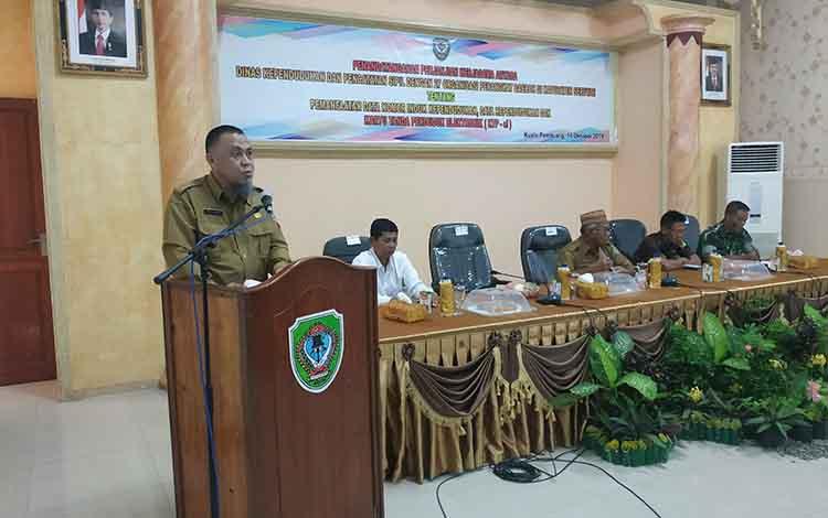 Kabid Pengolahan Informasi Administrasi Kependudukan Disdukcapil Provinsi Kalteng, Ambar Ratmoko menyatakan Seruyan menjadi daerah pertama yang melakukan penandatangan MoU data kependudukan di Kalteng.