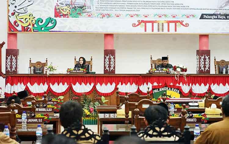 Rapat paripurna DPRD Kota Palangka Raya pada Selasa, 15 Oktober 2019.