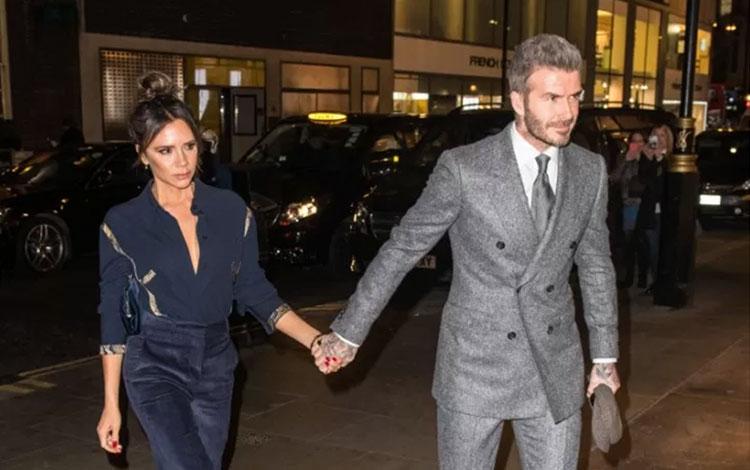 David dan Victoria Beckham menghadiri gelaran London Fashion Week Men\'s AW19 di London, Inggris (08/01/2019) REUTERS