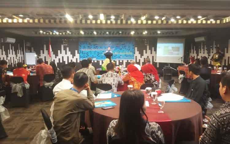 Pemko Palangka Raya menggelar workshop program kota tanpa kumuh Kota Palangka Raya di Hotel Global, Kamis, 17 Oktober 2019.