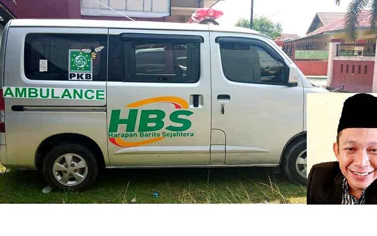 Anggota DPRD Kabupaten Barito Utara Benny Siswantopatut menjadi contoh bagi wakil rakyat lainnya/ PolitisiPartai Kebangkitan Bangsa (PKB) itu menggadaikan gajinya ke perbangkan untuk membeli mobil ambulans.
