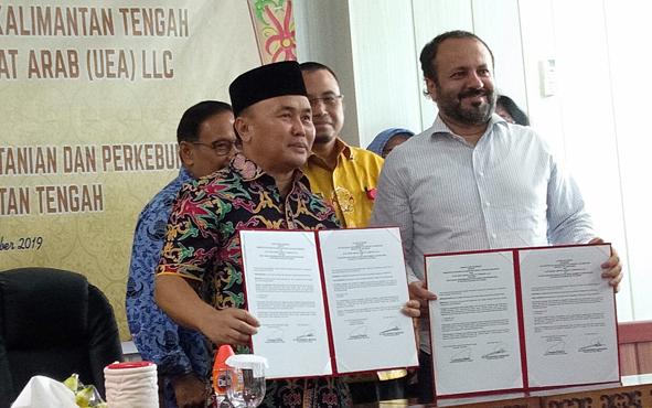 Gubenur Kalimantan Tengah Sugianto Sabran berharap, kerja sama dengan Elite Agro Uni Emirat Arab (UEA) LLC membawa berkah untuk Bumi Tambun Bungai.
