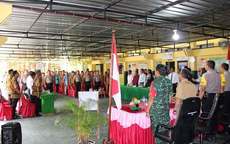 Suasana deklarasi calon kepala desa di wilayah Kecamatan Katingan Hilir.