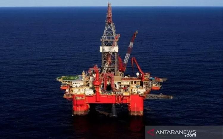 Anjungan minyak lepas pantai di di Teluk Meksiko. ANTARA/REUTERS/Henry Romero/aa.