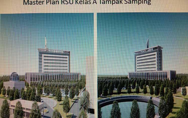 Pemerintah Provinsi Kalteng terus menggodok langkah-langkah menuju pembangunan Rumah Sakit Tipe A. Nampak master plan dari rumah sakit tersebut