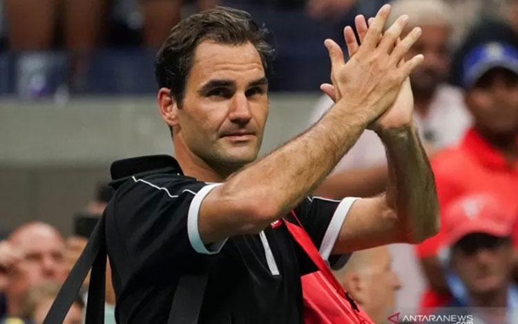 Roger Federer. ANTARA/AFP/DOMINICK REUTER.