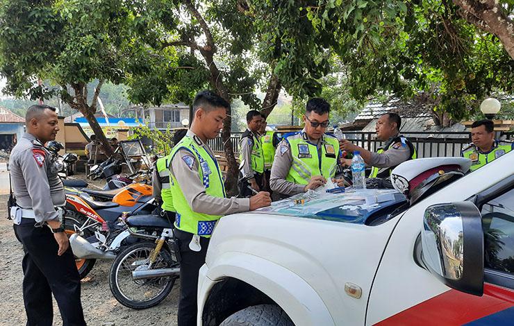 Satlantas Polres Bartim tindak tegas pelanggar lalu lintas dalam operasi zebra telabang 2019.