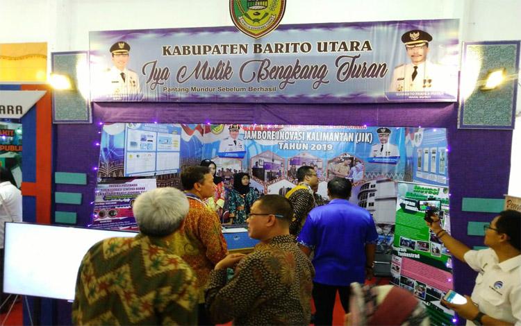 Stan Kabupaten Barito Utara pada gelaran Jambore Inovasi Kalimantan dan Pameran Inovasi 2019 di Palangka Raya