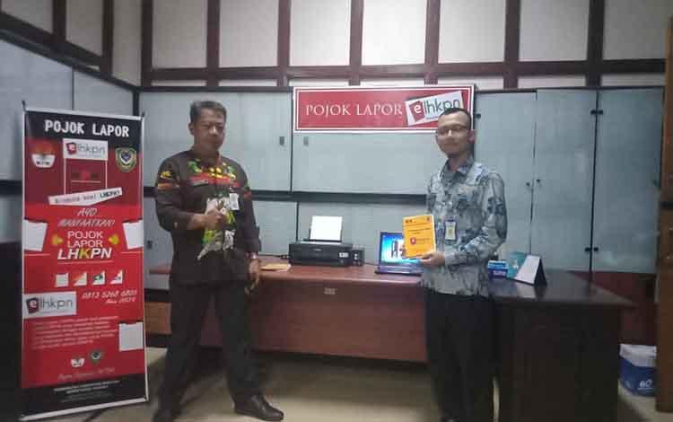 Persiapan pojok lapor LHKPN di Pemkab Seruyan.
