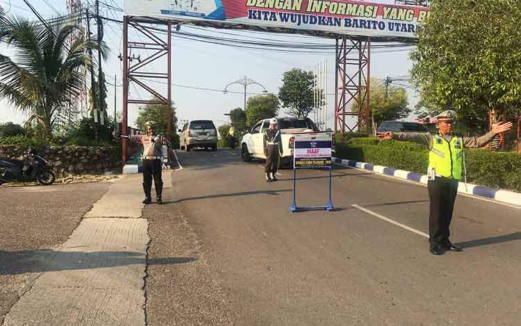 Pada hari pertama operasi Zebra Telabang tahun 2019 yang dilaksanakan Polres Barito Utara, Rabu 23 Oktober 2019, sebanyak 30 pelanggar lalu lintas mendapat sanksi tilang.