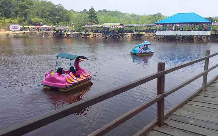 Dam Turan Amis. Objek wisata alam ini diresmikan Bupati Barito Timur Ampera AY Mebas, Kamis 24 Oktober 2019