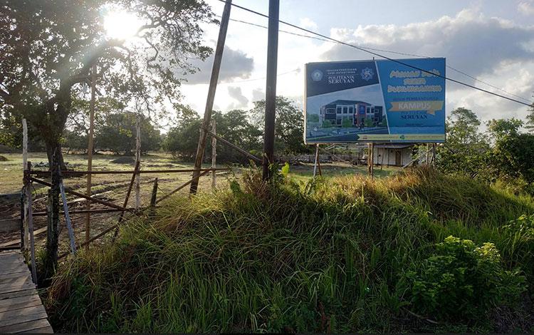 Lokasi pembangunan Gedung Politeknik Seruyan di Kuala Pembuang