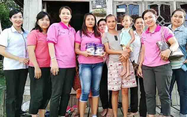 Balita penderita jantung bocor di Gunung Mas, saat dikunjungi relawan.