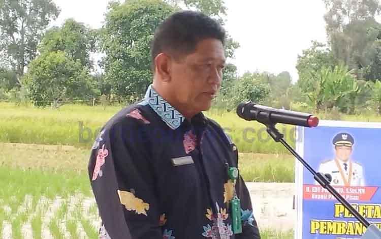 Kepala Dinas Pemuda dan Olahraga Pulang Pisau, Herto. Saat ini para atlet Pulang Pisau terus dibina untuk menghadapi persiapan Porprov 2022