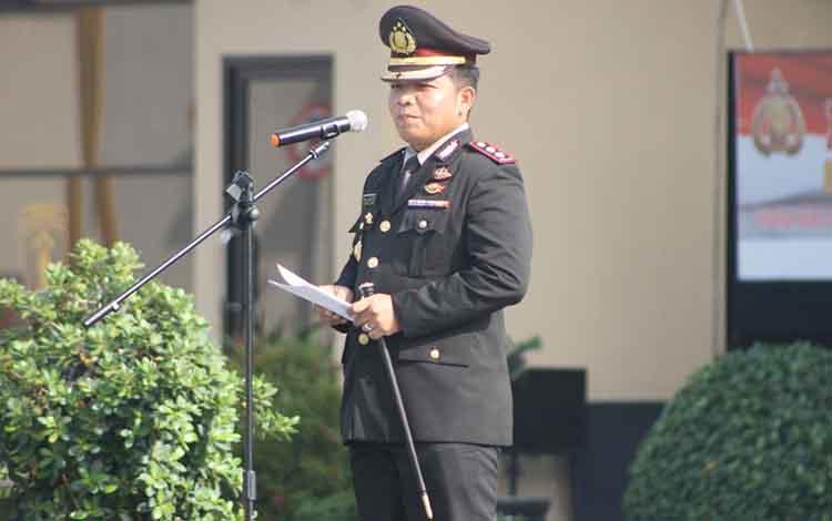 Kapolresta Palangka Raya, AKBP Timbul R.K Siregar saat mengatakan bahwa peresmian status Polresta Palangka Raya akan digelar, Kamis 31 Oktober 2019.