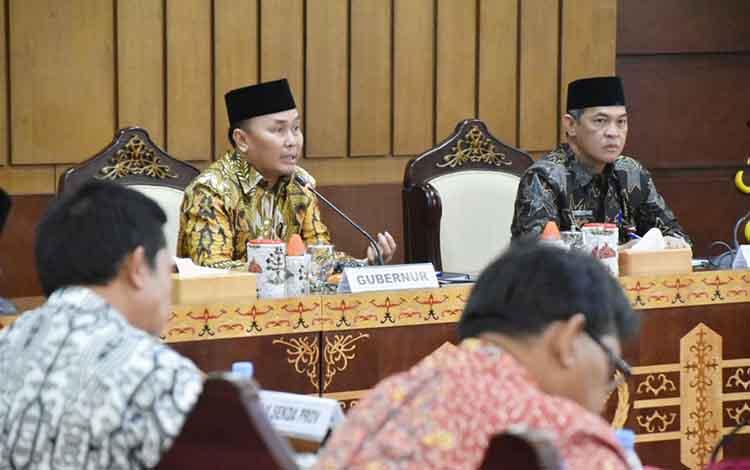Gubernur Kalteng Sugianto Sabran dalam sebuah kegiatannya.