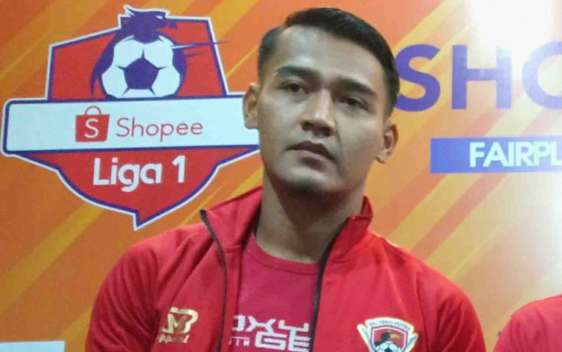 Penjaga Gawang Kalteng Putra Reky Rahayu menyampaikan motivasinya dalam menghadapi Persib Bandung pada Jumat, 1 November 2019, besok.