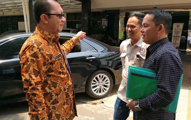 Wakil Ketua II DPRD Murung Raya saat bertemu dengan Dirjen PMD Kementerian Desa PDTT,  Jumat, 1 November 2019.