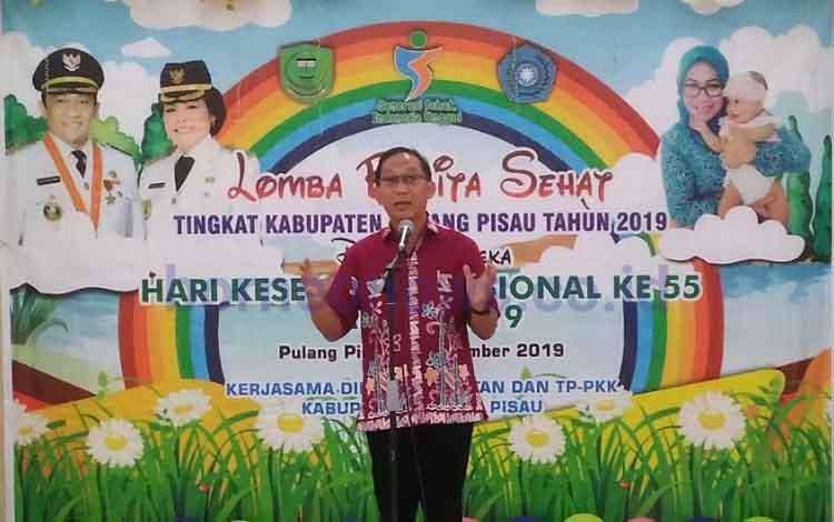 Kepala Dinas Kesehatan Pulang Pisau, Muliyanto Budihardjo. Dalam 10-20 tahun ke depan Pulang Pisau harus banyak memiliki SDM berkualitas