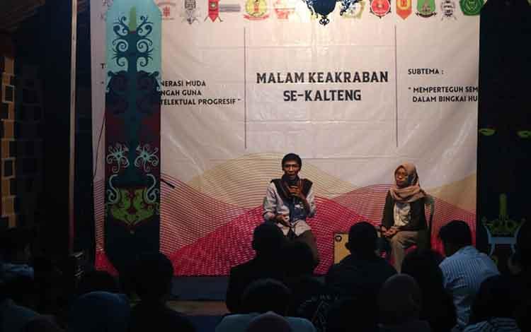 120 orang mahasiswa Kalimantan Tengah Di Yogyakarta deklarasikan persatuan, Senin, 4 November 2019.