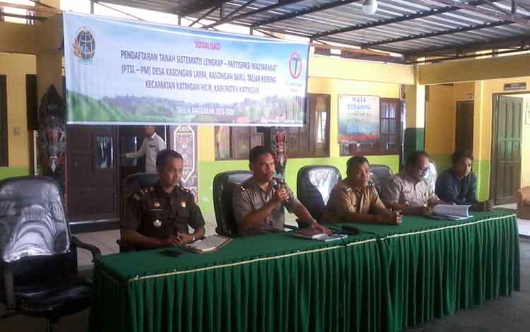 Wilayah Kecamatan Katingan Hilir Kabupaten Katingan tahun 2019 ini mendapatkan jatah 2.500 sertifikat tanah gratis programpendaftaran tanah sistematis lengkap partisipasi masyatakat atau PTSL - PM.