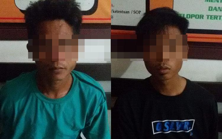 2 pelaku pencurian motor di Desa Rasau Tumbuh diringkus security perusahan