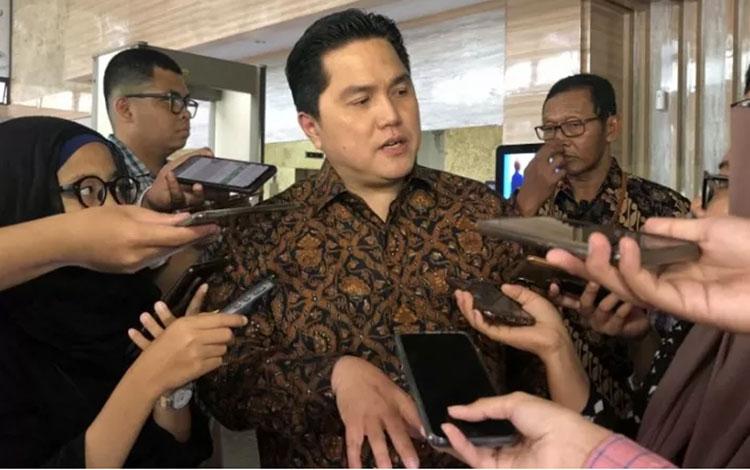 Menteri Badan Usaha Milik Negara (BUMN) Erick Thohir di Jakarta, Selasa (5/11/2019). ANTARA/AstridFa