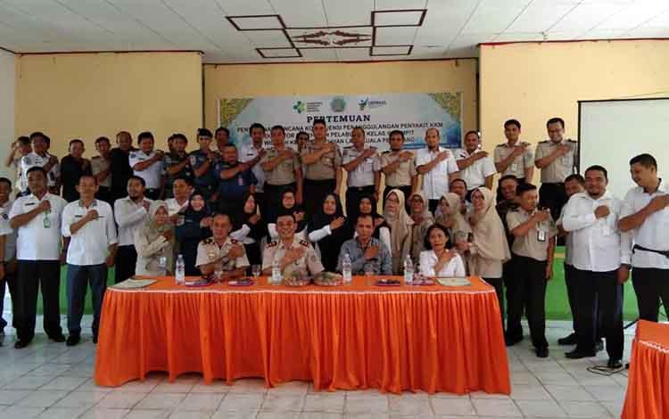 Kantor Kesehatan Pelabuhan kelas III Sampit, menggelar pertemuan penyusunan rencana kerjbpenanggulangan penyakit kedaruratan kesehatan masyarakat, di wilayah kerja Pelabuhan laut Kuala Pembung.