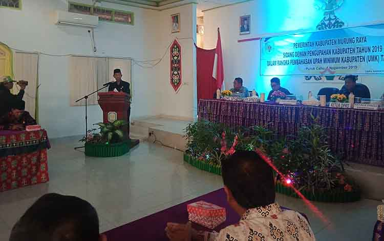 Pembukaan sidang pengupahan membahas UMK tahun 2020 di Kabupaten Murung Raya, Kamis, 7 November 2019