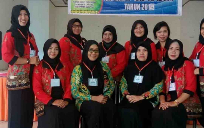 Salah satu kegiatan Ikatan Bidan Indonesia Seruyan.