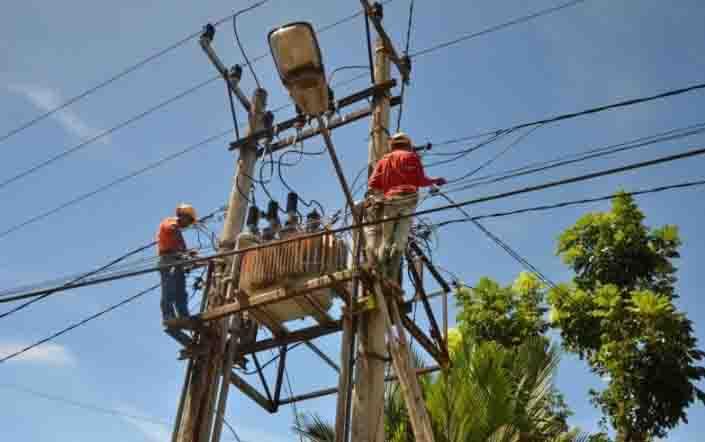 Ilustrasi jaringan listrik.