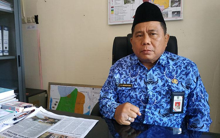 Kepala Dinas Perikanan Kabupaten Seruyan, Abu Hasan Asari. Rencanya lomba inovasi hasil ikan akandilaksanakan 21-22 November 2019di Stadion Gagah Lurus Kuala Pembuang