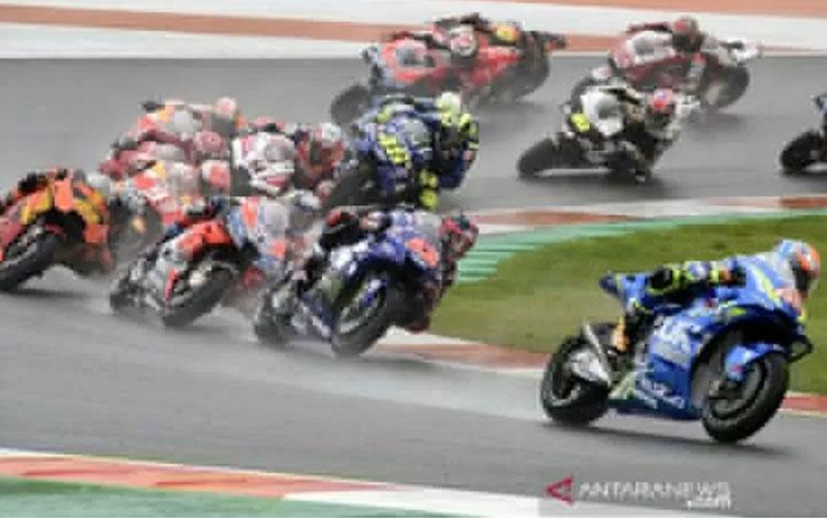 Para pebalap berlaga di Grand Prix Valencia di Sirkuit Ricardo Tormo, Cheste, Spanyol (18/11/2018) A