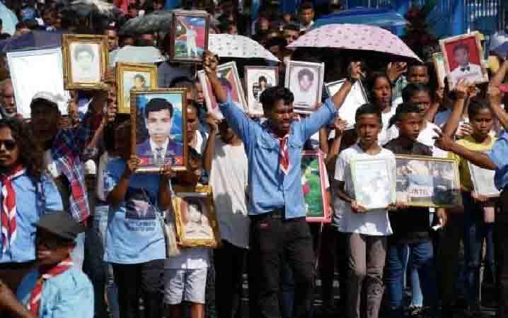 Peringatan tragedi Santa Cruz di Timor Leste. (foto : tempo.co)