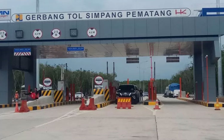 Jalan Tol Trans Sumatera ruas Terbanggi Besar-Pematang Panggang-Kayu Agung, (Antara Lampung/HO)