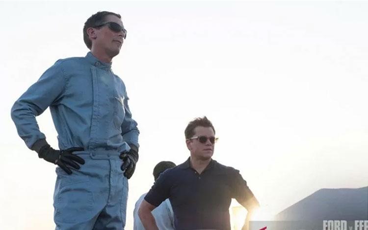 "Christian Bale dan Matt Damon dalam film \\\""Ford v Ferrari\\\"". (ANTARA/HO/20th Century Fox)"