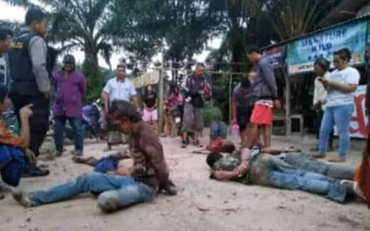 Satu dari lima pelaku pencurian tewas saat menjalani perawatan di Puskesmas Karang Mulya, Sabtu 16 November 2019 sekitat pukul 10.25 WIB