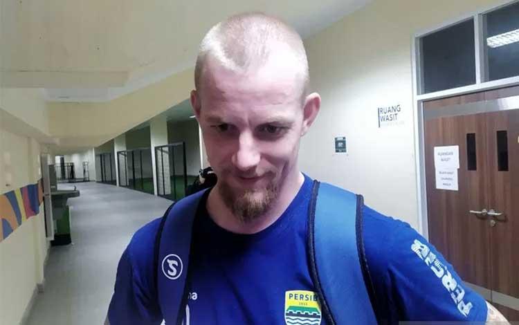 Penyerang Persib Bandung, Kevin Van Kippersluis. (ANTARA/Bagus Ahmad Rizaldi)